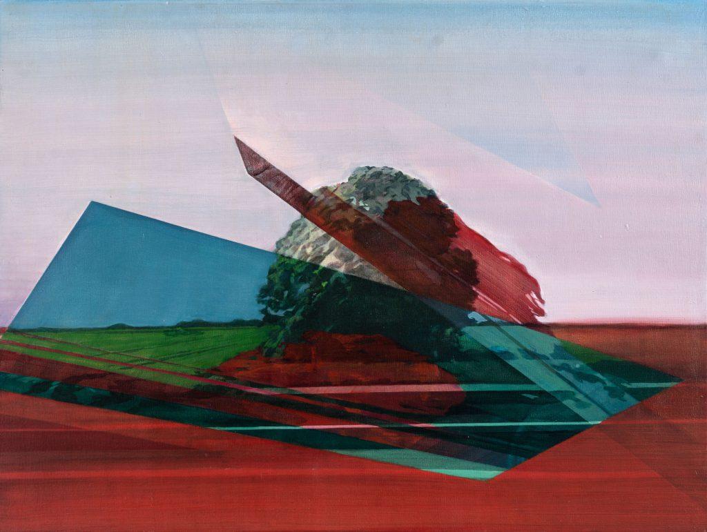 Soojie Kang - Autobahnbaum nr.1 - 60 x 80cm - acrylic on canvas - 2018