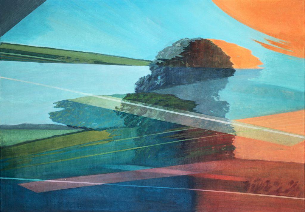 Soojie Kang - Autobahnbaum nr.2 - 70 x 100cm - acrylic on canvas - 2018