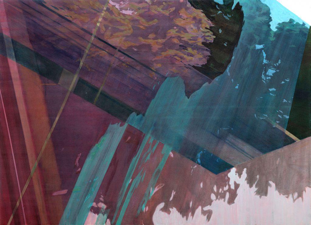 Soojie Kang - Autobahnbaum nr.3 - 80 x 110cm - acrylic on canvas - 2018