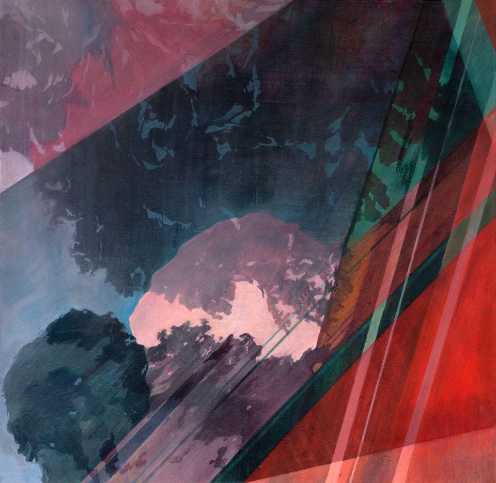 Soojie Kang - Autobahnbaum nr.2 - 100 x 110cm - acrylic on canvas - 2018