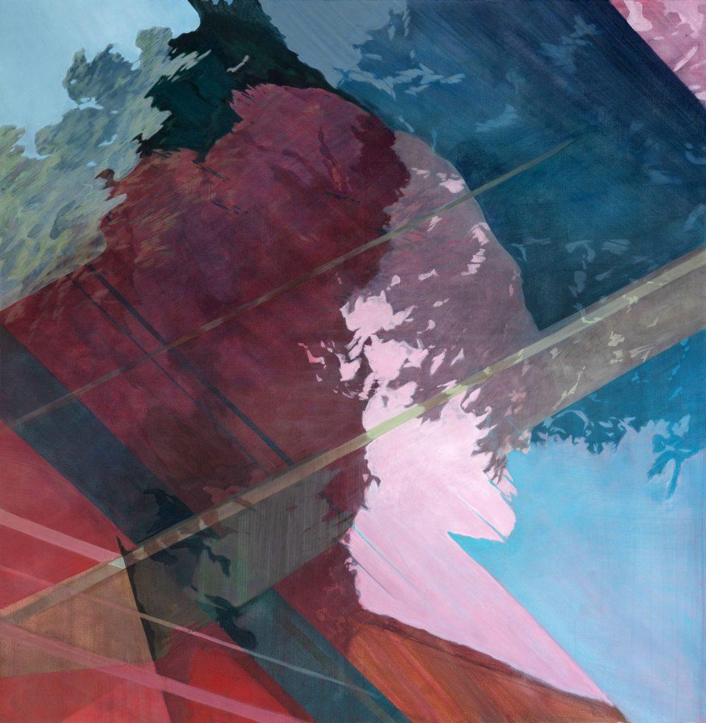 Soojie Kang - Autobahnbaum nr.2 - 130 x 130cm - acrylic on canvas - 2018